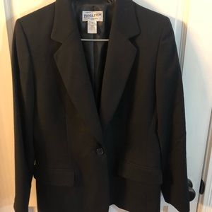 VTG Pendleton black blazer SZ.6 petite virgin wool
